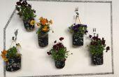 Indoor bloemen of fruitige muur