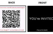 DIY op moderne uitnodigingen: met behulp van Business Cards en QR Codes