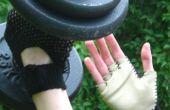 Haak en lederen sportschool handschoenen