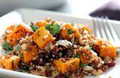 Glutenvrije Quinoa met zoete aardappelen en gedroogde Cranberry vulling