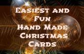 Gemakkelijkste en leuke Hand Made kerstkaarten