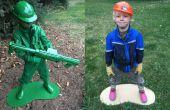 Plastic leger Man levend standbeeld kostuum