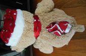 Naai de beary schattige Flanel baby quilt binnen een snoezige geheime schuilplaats