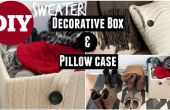 Naai de decoratieve trui vak & NO kussensloop van oude trui