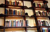 Scheve boekenkasten met LED-verlichting