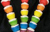Regenboog Cupcake spiesjes