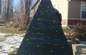 Pallet kerstboom met LEDs