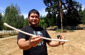 Maak een Survival Atlatl en Dart met alleen gevonden materialen en stenen werktuigen