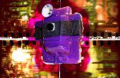 Grote purpel ei-vormige bodge het regel voor regel film camera
