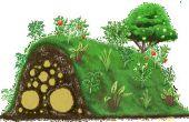 Nooit waterplanten weer met Hugelkulture!