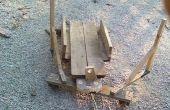 Downhill houten voertuig