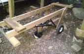 Kayak boot hout kar toevoeging aan trailer dolly