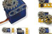 Servo-motor aangepast aan Lego