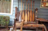 Drijfhout kano peddel verbinding maken met het verleden.