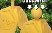 3D-gedrukte kerst ornament