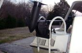 Maak een trolling motor mount van een gangboord haak type instappen ladder
