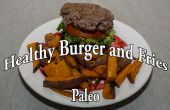 Paleo hamburgers en Fries