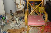 Een oude stoel omzetten in een draagbare verstek zaag stand