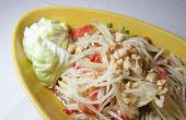 """Pittige Thaise Papaya Salade - aka """"Som Tam"""""""