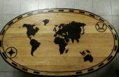 Wereld kaart tafelblad