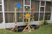 Vrijstaand waterrad met Upcycled emmers