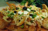 Tamales con Chicharrones Nachos