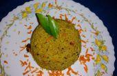 Dal een Pot Veg rijst (Zuid-Indiase stijl)
