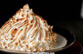 Gebakken Alaska Ice cream Pie (3.14 lagen met frambozen ijs!)