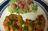 Bier gehavend Fish fry met sla en cherry tomaat Salade