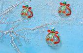 Hoe maak je makkelijk Kerstboom Ornament met glas Lampwork kralen en linten