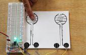 Maken van een Touch gevoelige on/off Circuit met blote verf en een 555 Timer IC