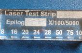 Bijhouden van de graveur van uw laser snijden macht met test strips