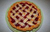 DIY zelfgemaakte aardbei taart