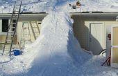 Reuze sneeuw oprit