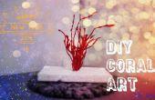 DIY koraal kunst uit warme lijm