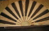 Eenvoudig houten deurmat