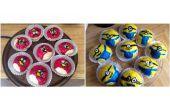 Minions/Angry Birds gestoomde broodjes
