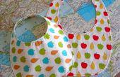 Hoe om te naaien een baby slabbetje + patroon