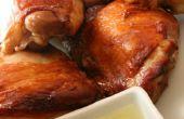 Krokante huid Sake kip met gember saus