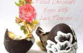 Chocolade-eieren met Lace bloemen gevuld