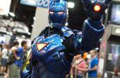 Stealth Iron Man met elektronica en servo's