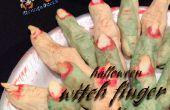 Gemakkelijk Halloween heks vinger Cookies