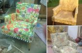 Een stoel reupholstering