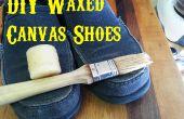 DIY gewaxt Canvas schoenen