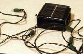 Maak je eigen zonne-energie aangedreven led string lichten.  (max 5 dollar)