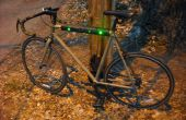 Knipperende LED Top Tube Pad voor uw fiets