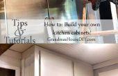 Hoe te bouwen uw eigen keukenkasten