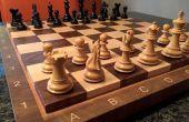 Hoe maak je een einde graan schaakbord