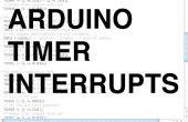 Arduino Timer onderbreekt
