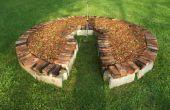 Sleutelgat tuin met behulp van teruggewonnen materialen